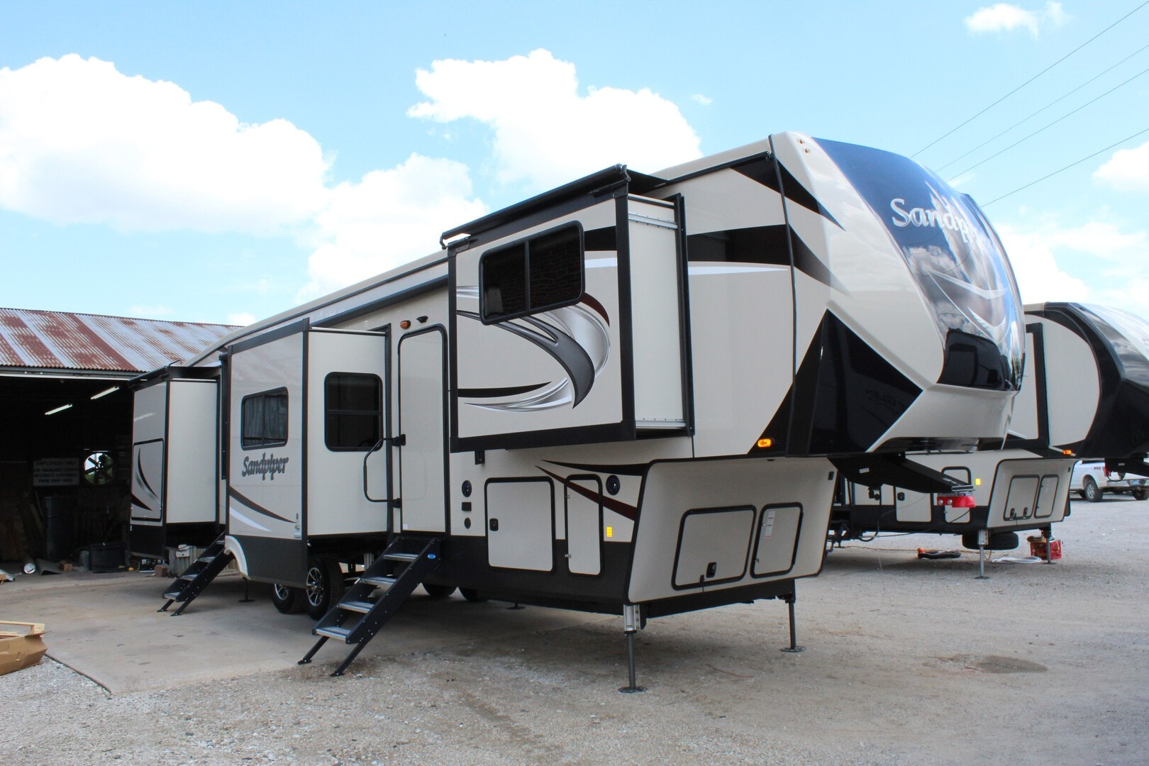 Used, 2020, Forest River, Sandpiper 38FKOK, Fifth Wheels