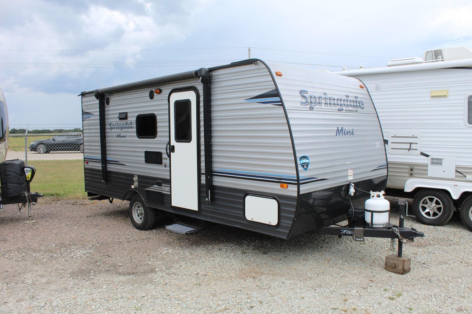 Used, 2018, Keystone, Springdale Mini 1800BH, Travel Trailers