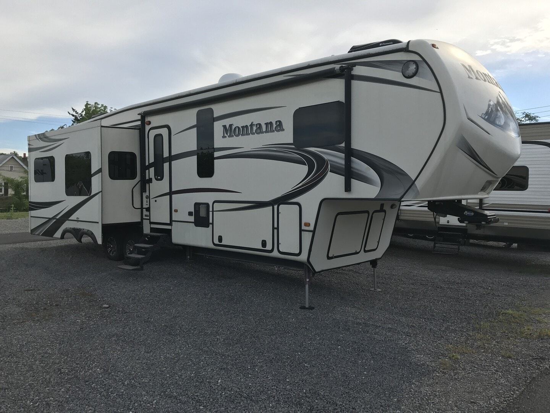 Used, 2014, Keystone, Montana 3610RL, Fifth Wheels