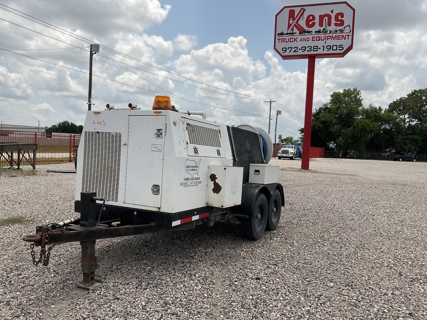 Used, 2007, Sewer Equipment Co., 747-FR2000, Tank Trailers