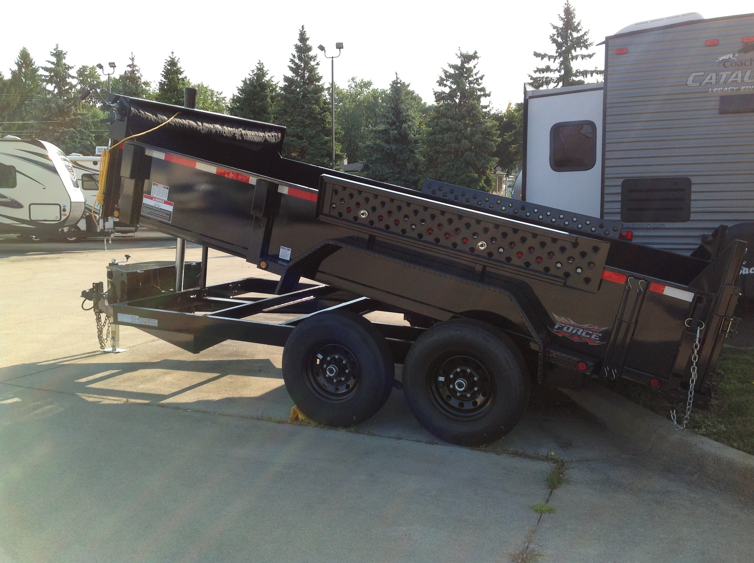 New, 2021, Forest River, Force FAHDL6814TA5, Dump Trailers