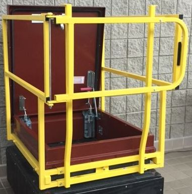New, Other, Roof Hatch Safety Grab Bars Caged, Other - Heavy Equipment