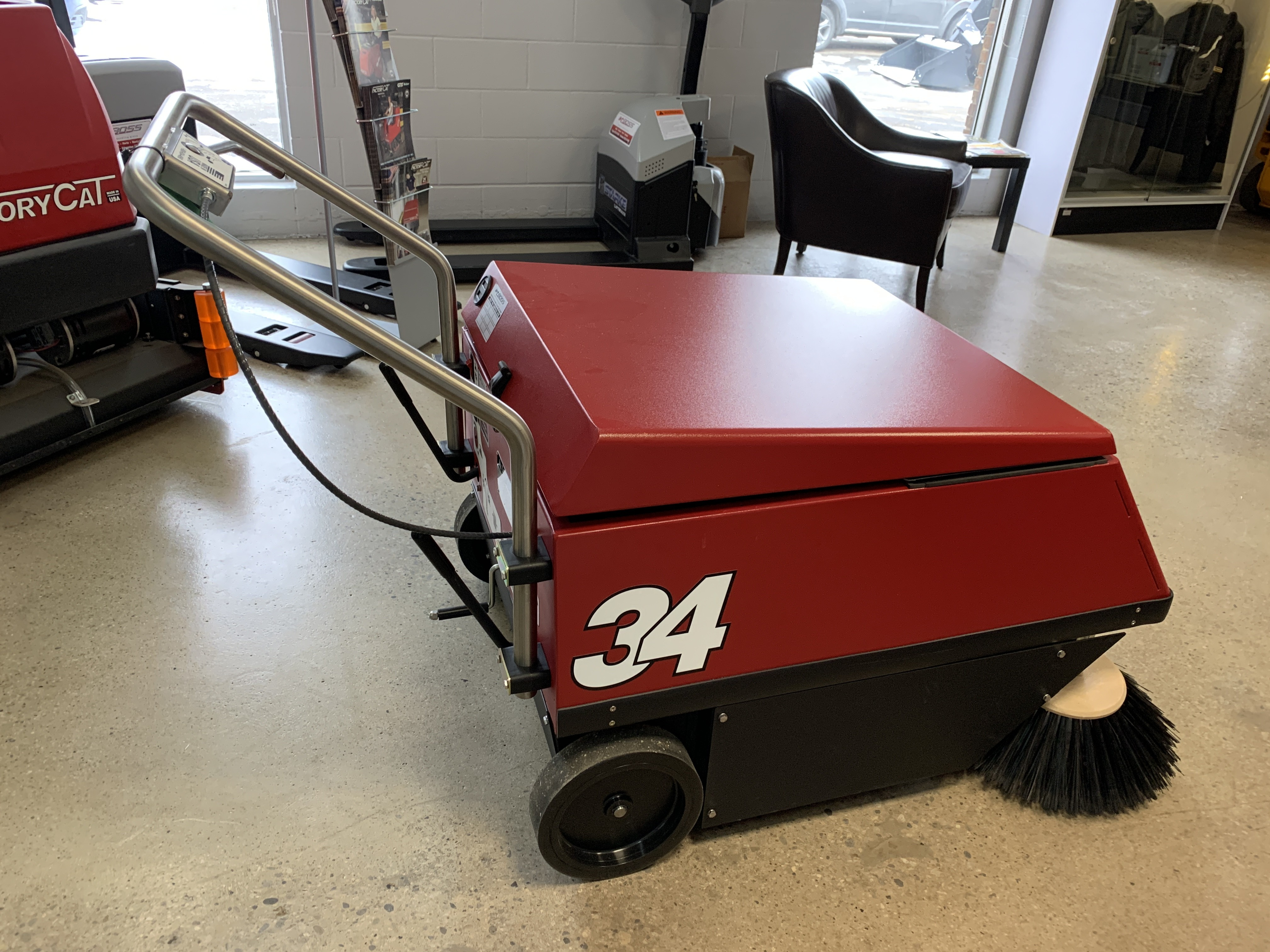 New, 2021, Factory Cat, 34 and 34HD Industrial Walk Behind Sweeper, Floor Cleaning Equipment