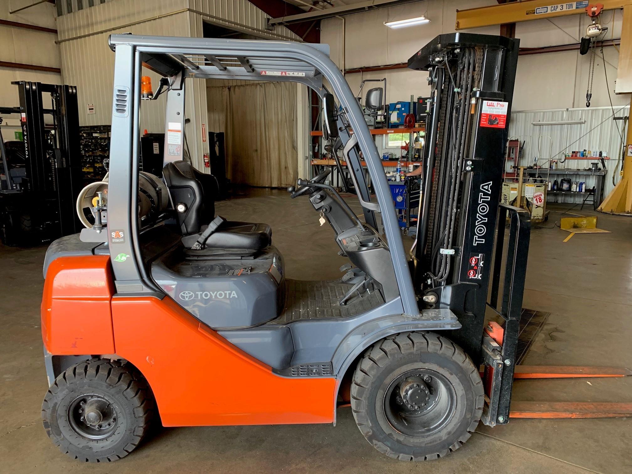 Used, 2019, Toyota Industrial Equipment, 8FGU20, Forklifts / Lift Trucks