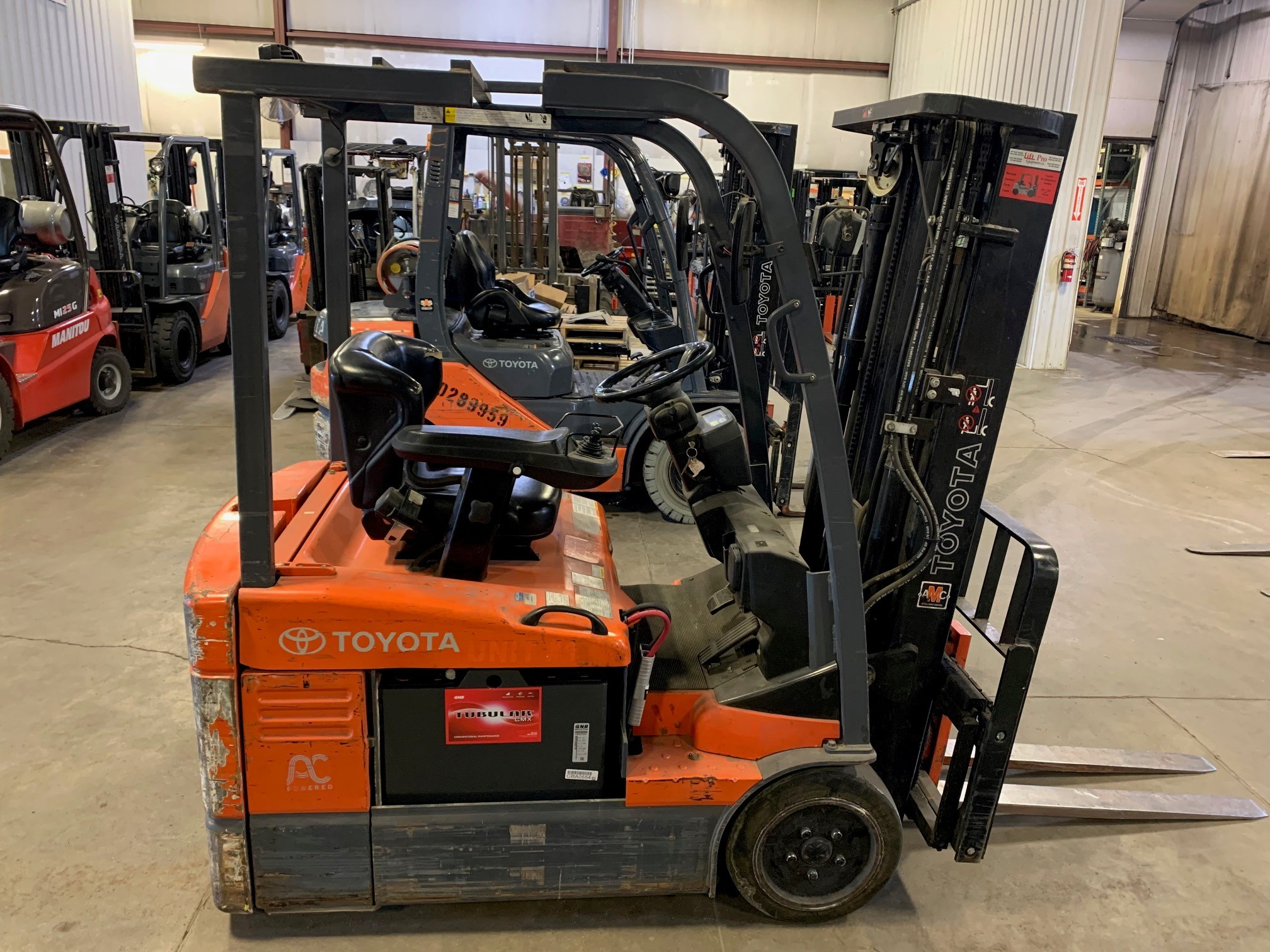 Used, 2007, Toyota Industrial Equipment, 7FBEU15, Forklifts / Lift Trucks
