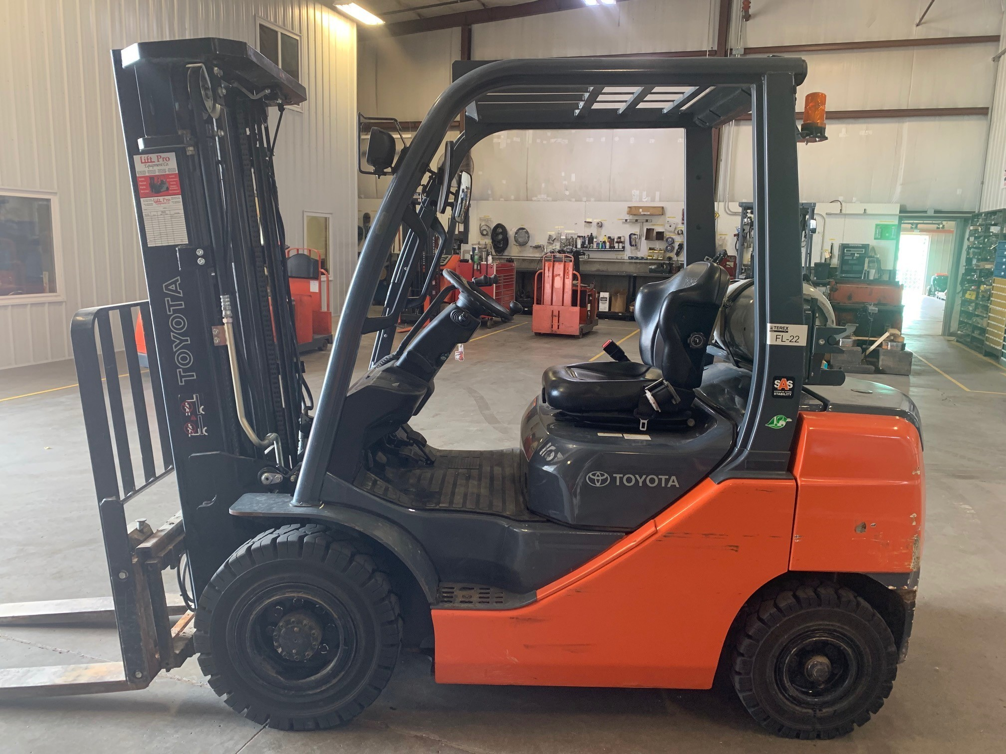 Used, 2019, Toyota Industrial Equipment, 8FGU25, Forklifts / Lift Trucks