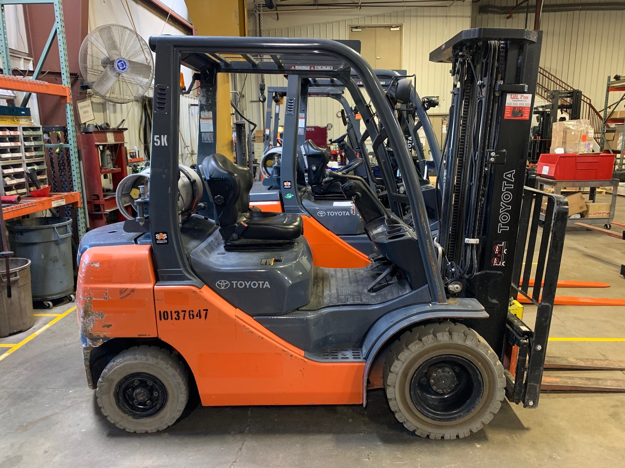 Used, 2013, Toyota Industrial Equipment, 8FGU25, Forklifts / Lift Trucks