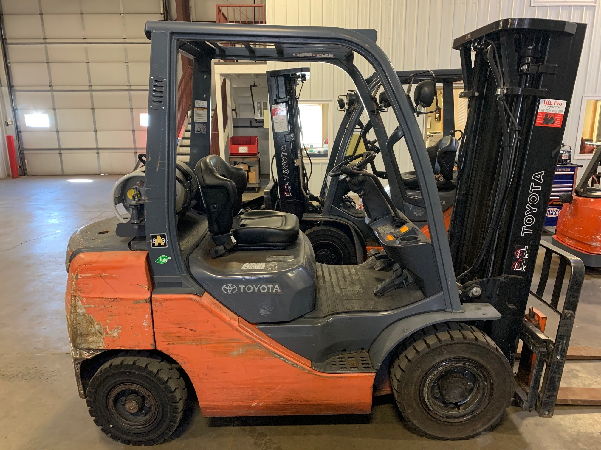 Used, 2009, Toyota Industrial Equipment, 8FGU25, Forklifts / Lift Trucks