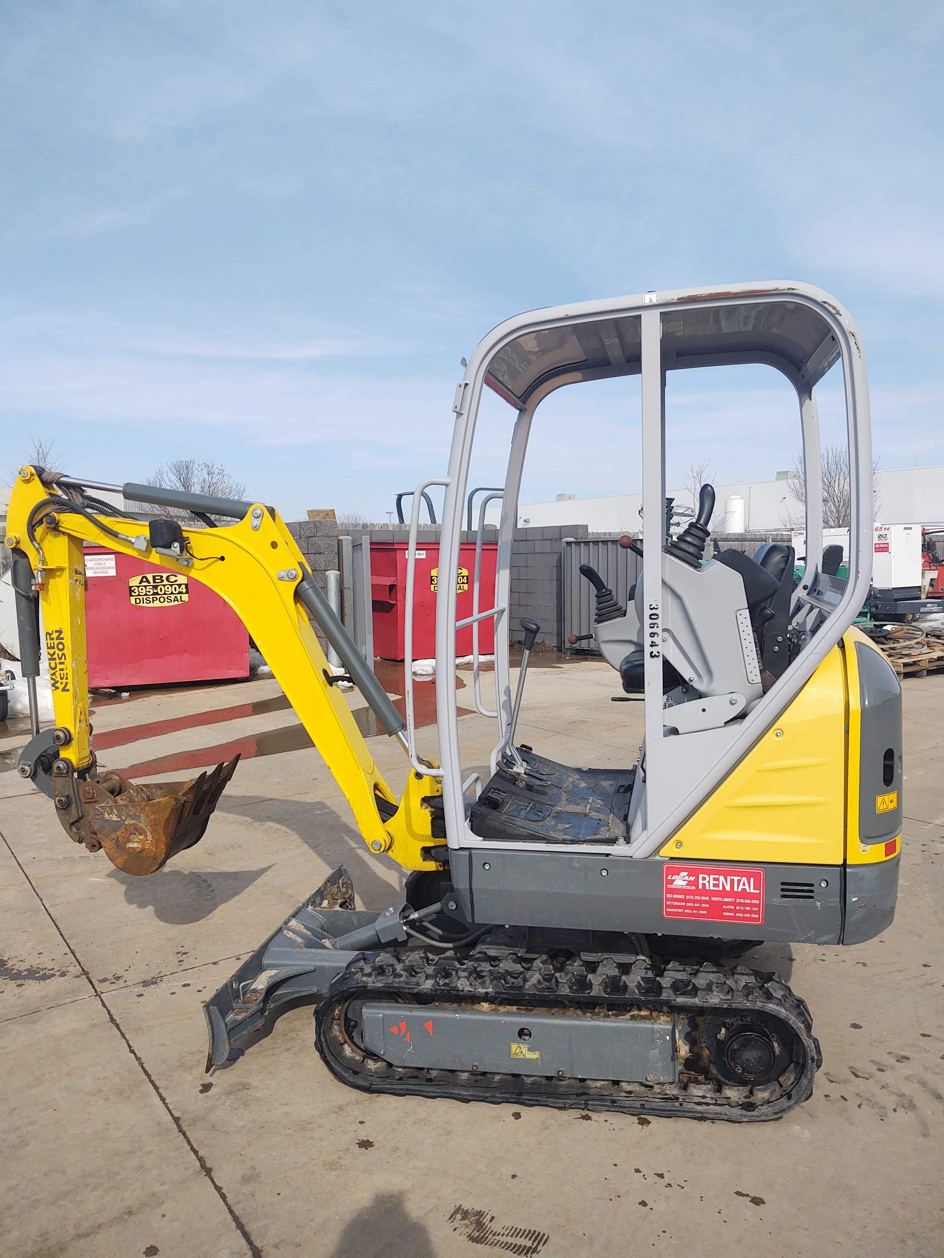 Used, 2015, Wacker Neuson, 1404, Excavators