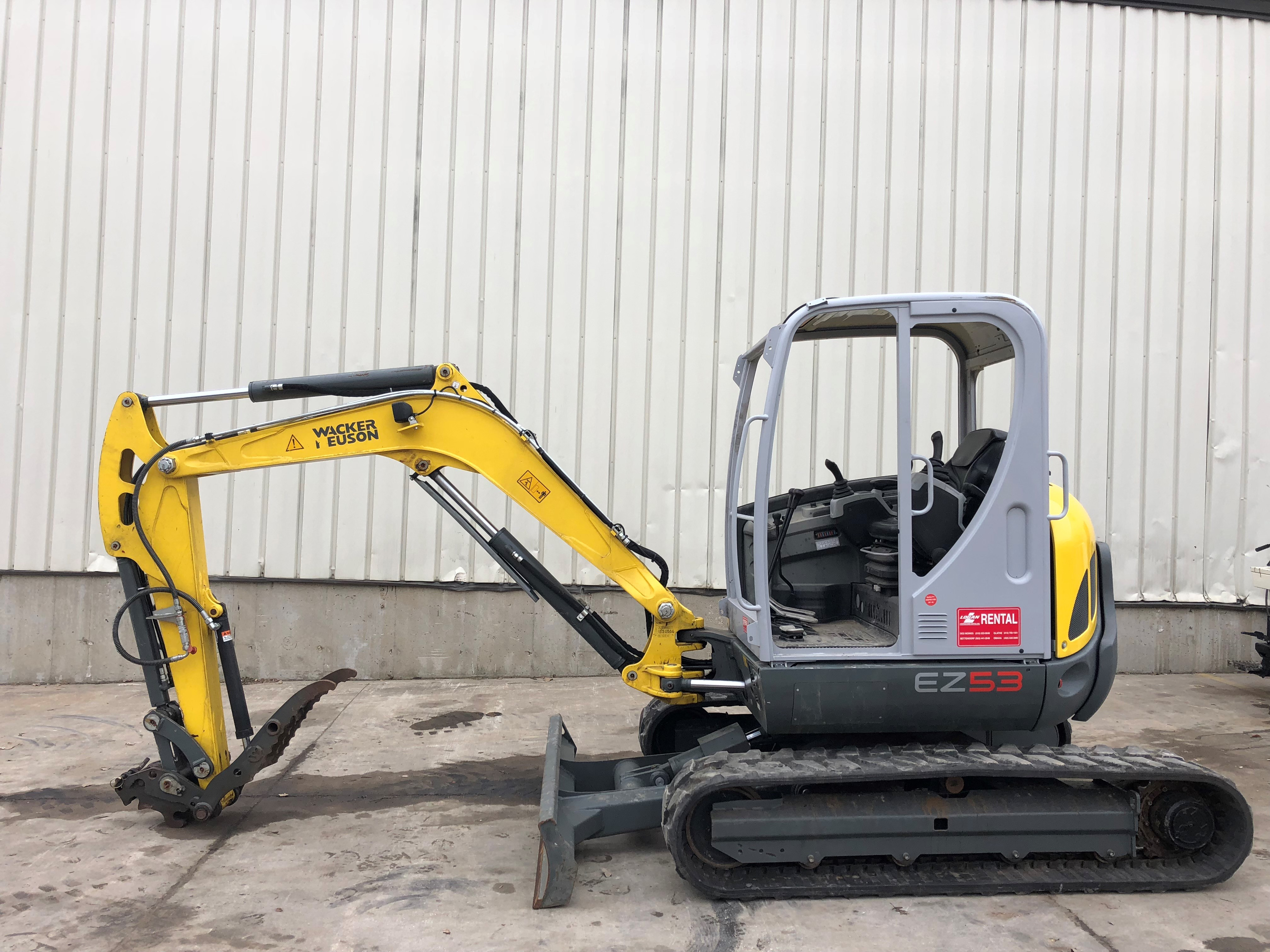 Used, 2016, Wacker Neuson, EZ53, Excavators