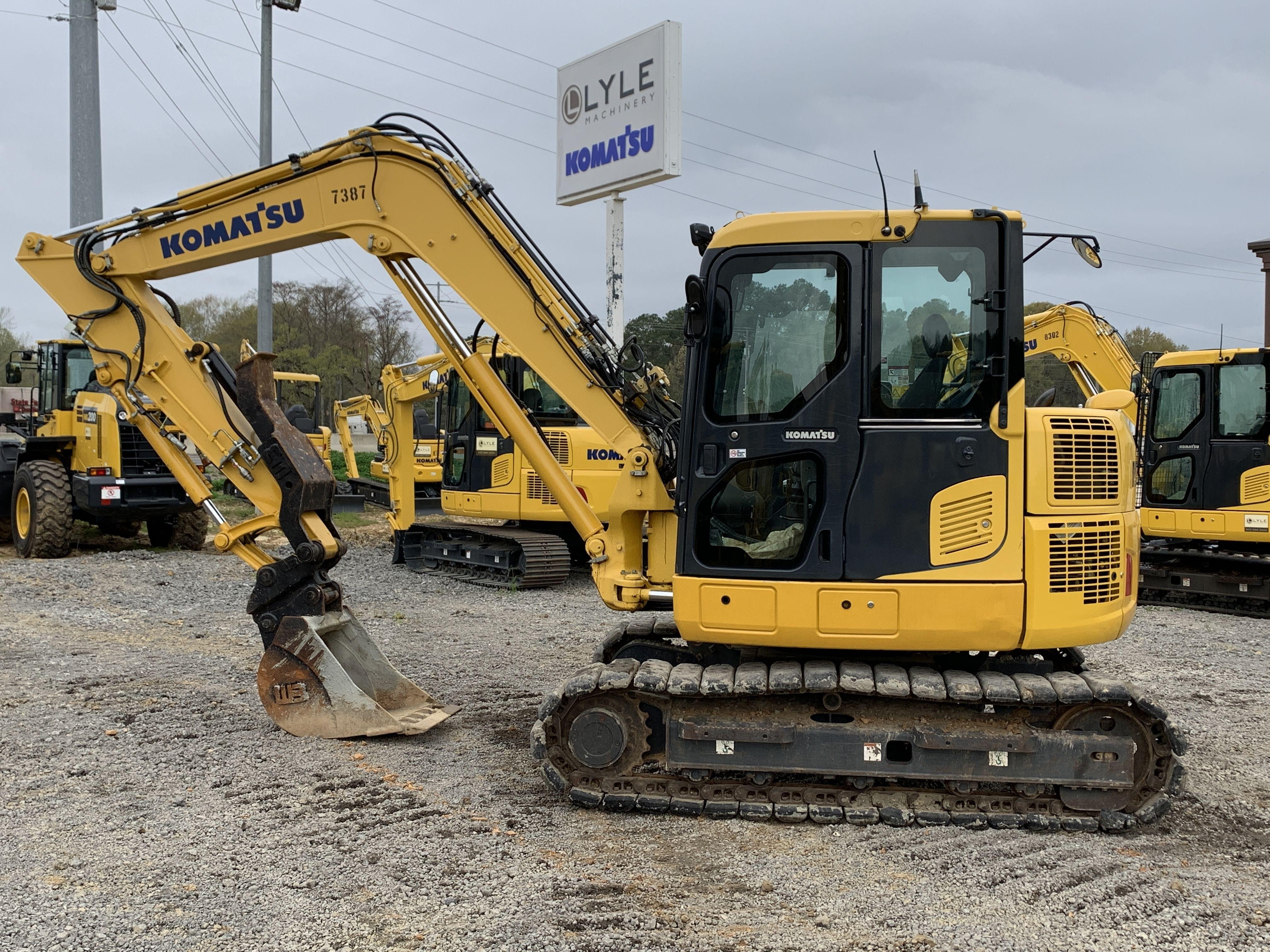Used, 2015, Komatsu, PC88MR-10, Excavators