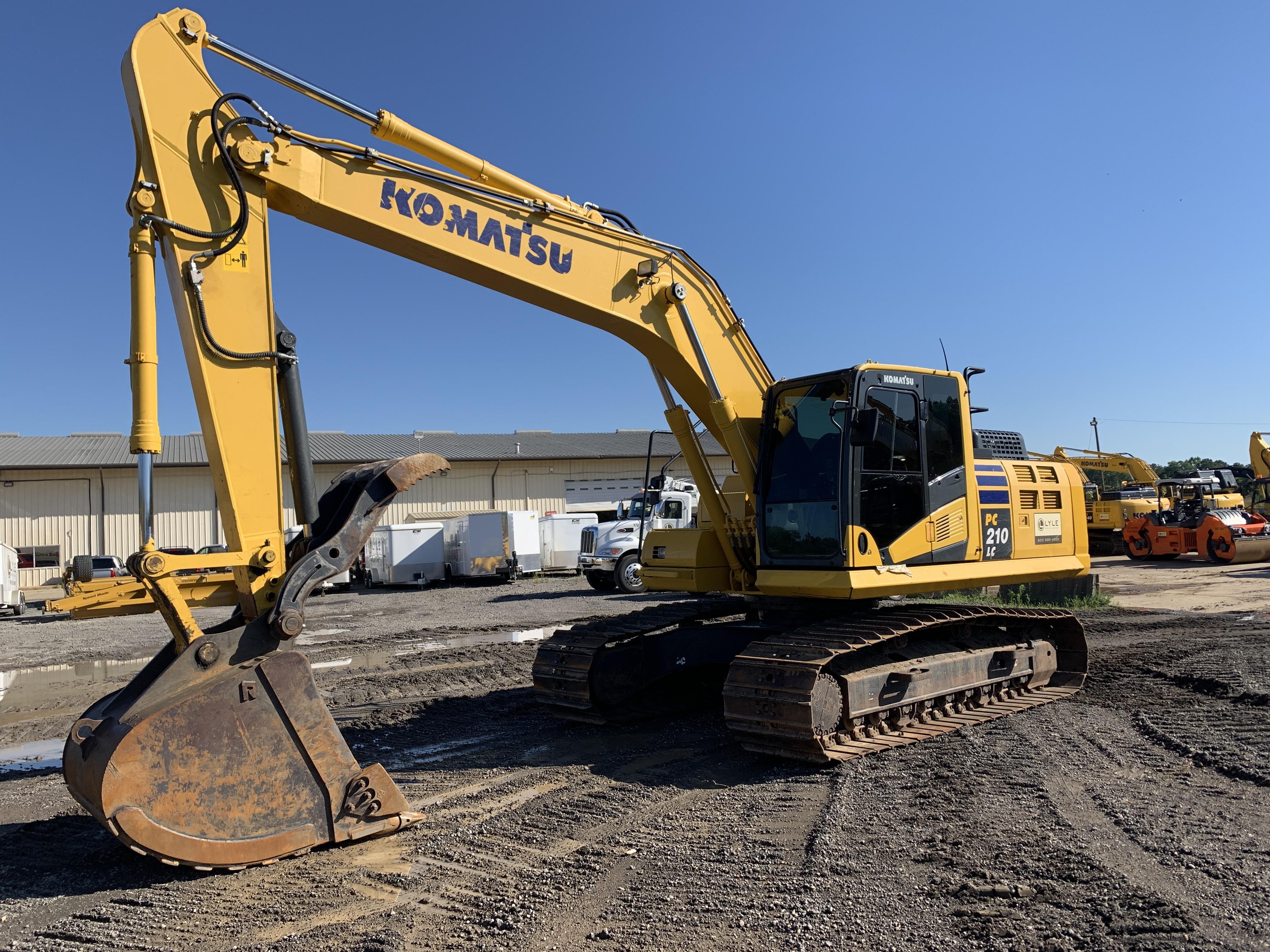Used, 2017, Komatsu, PC210LC-11, Excavators