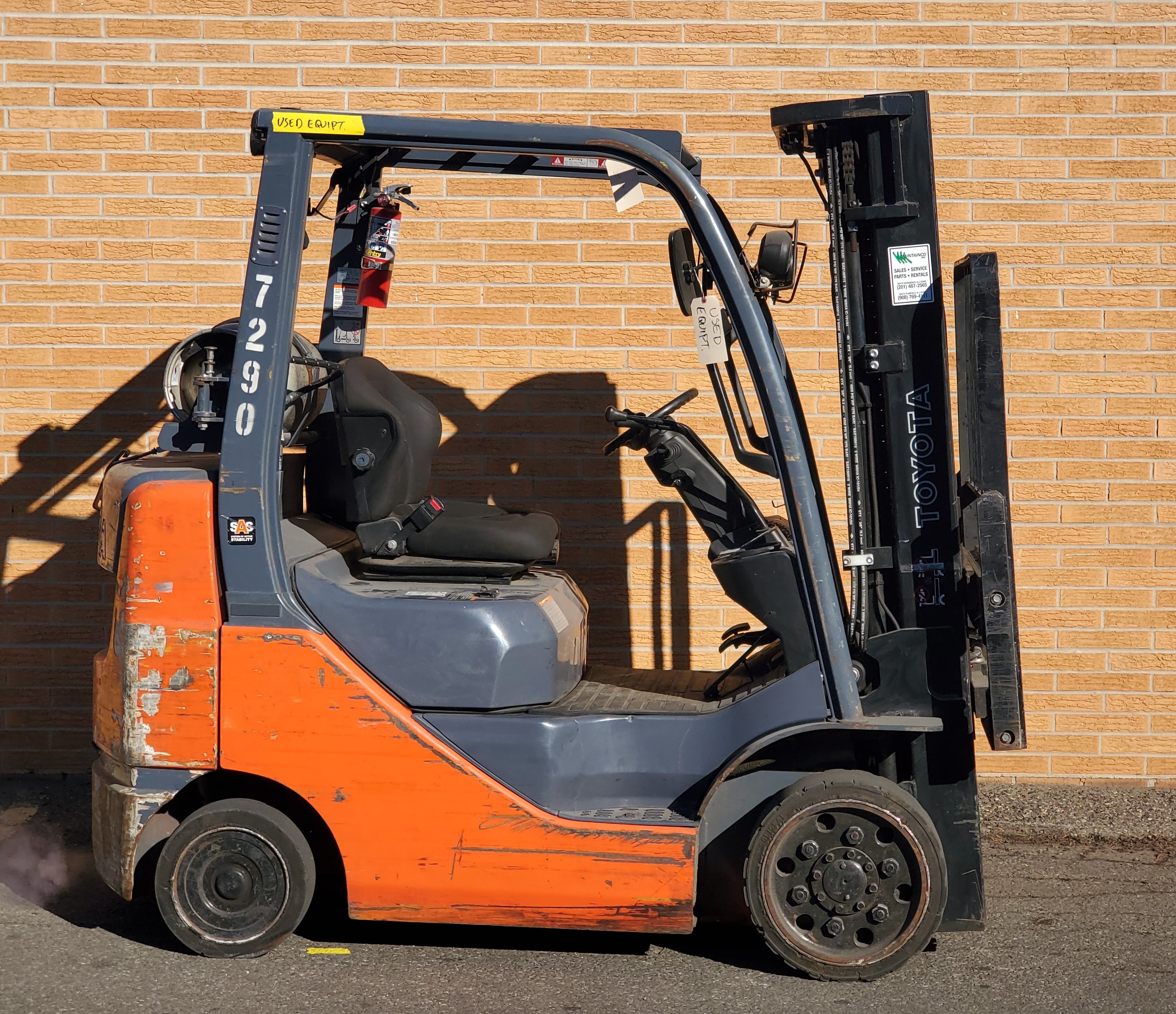 Used, 2014, Toyota Industrial Equipment, 8FGCU25, Forklifts / Lift Trucks