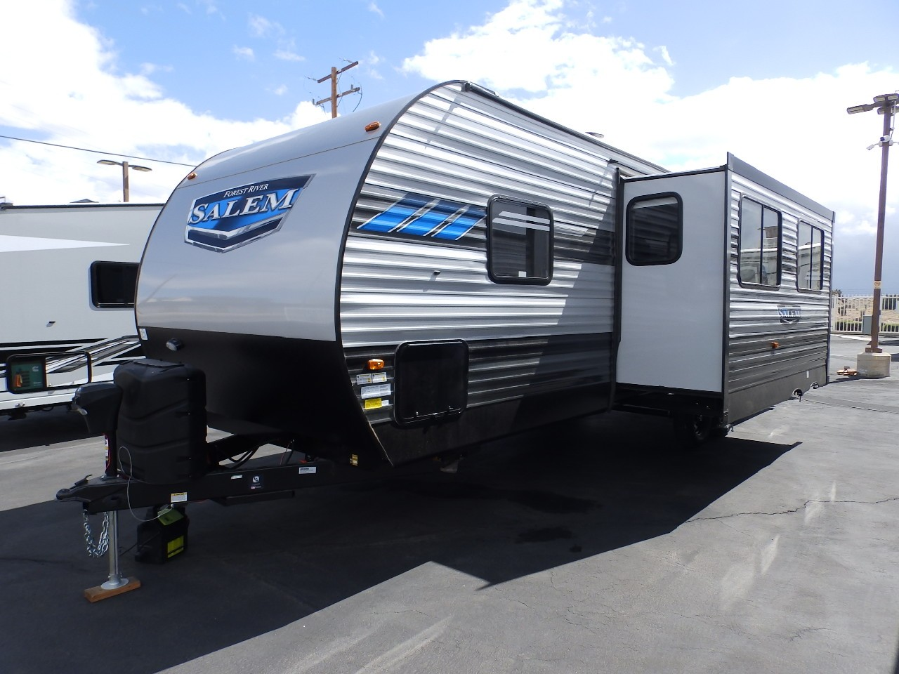 New, 2021, Forest River, SALEM 30QBSS, 1 SLIDE, REAR BUNKS, POWER AWNING, POWER STABILIZER JACKS, FIREPLACE, EXTERIOR KITCHEN, Travel Trailers