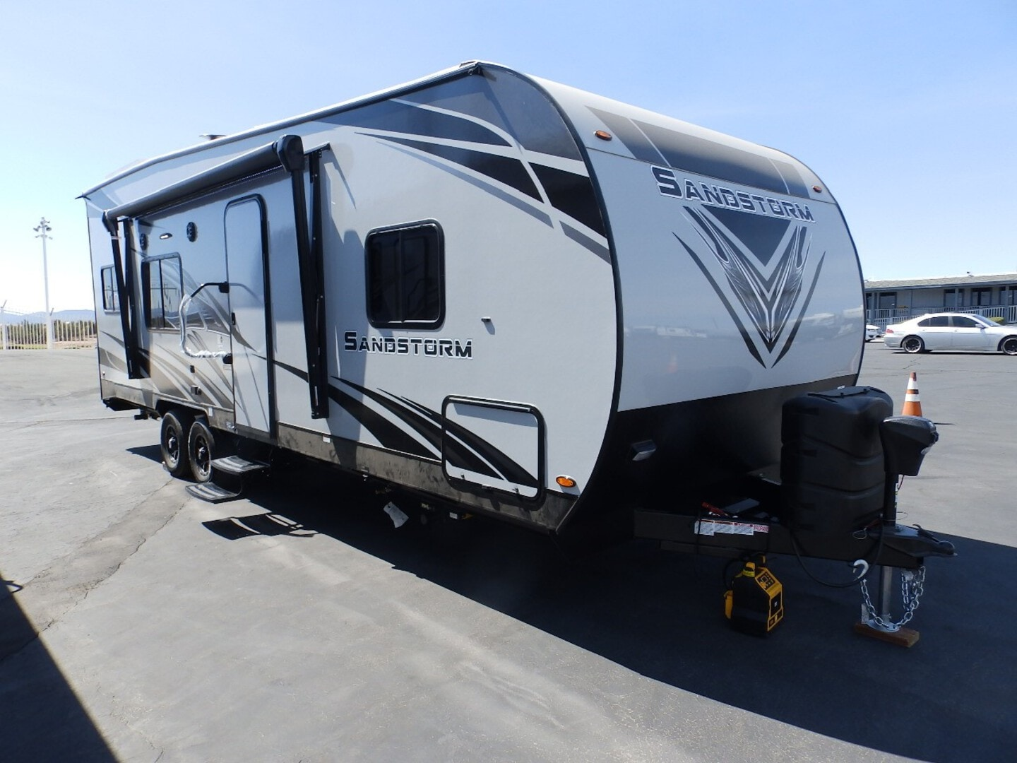 New, 2022, Forest River, SANDSTORM 242GSLC, FRONT WALK AROUND QUEEN BED, REAR ELECTRIC BED AND DINETTE, 260 WATT SOLAR PANEL, ARCTIC PACKAGE, 4000 ONAN GENERATOR, Toy Haulers