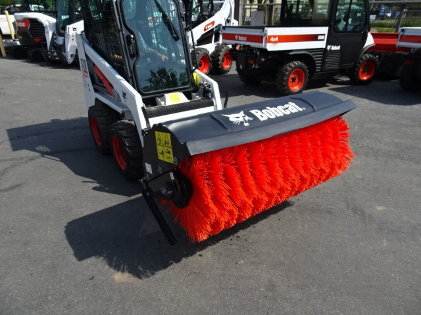 """Used, 2020, Bobcat, 52"""" Angle Broom - In Excellent Condition - 10.3 CID Motor Package (9.6 – 12.0 GPM), Broom Attachments"""