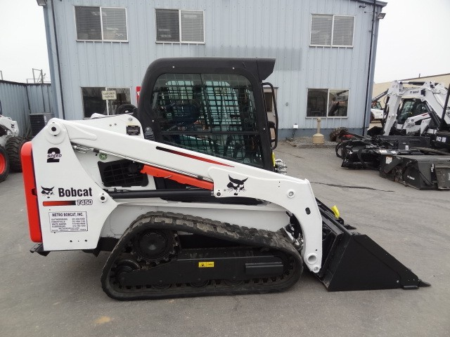 Used, 2016, Bobcat, T450 Track Loader, Only 616 Hours, Heat & AC, Deluxe Instrumentation w/Keyless Start, Two-Speed, Power Bob-Tach, Excellent Condition, Skid Steers