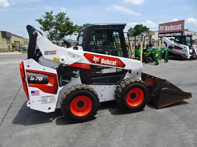 Used, 2021, Bobcat, S76 SKID STEER LOADER - 0% FINANCING AVAILABLE OR $2300 CASH REBATE -74HP TURBO-CHARGED DIESEL ENGINE (TIER 4) - 179 HOURS - 2 SPEED - HIGH FLOW HYDRAULICS - POWER BOB-TACH MOUNTING SYSTEM - TELEMATICS MACHINE IQ, Skid Steers
