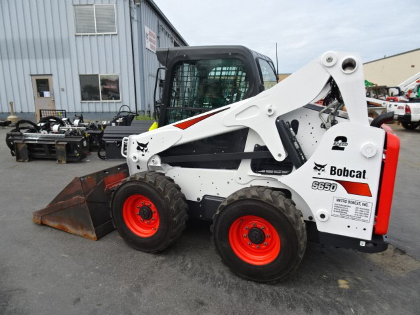 Used, 2020, Bobcat, S650 Skid-Steer Loader - $2300 CASH REBATE OR SPECIAL FINANCING AVAILABLE - C37, P29 PACKAGES - 74 HP Turbo Charged Bobcat Diesel Engine (Tier 4) - 167 HOURS - 2 SPEED WITH KEYLESS START PANEL , Skid Steers
