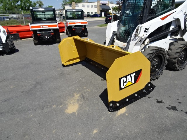 """Used, 2006, CAT, 96"""" CAT Snow Pusher Attachment - Rubber Edge - Heavy Duty Skid-Shoes, Box Scrapers"""