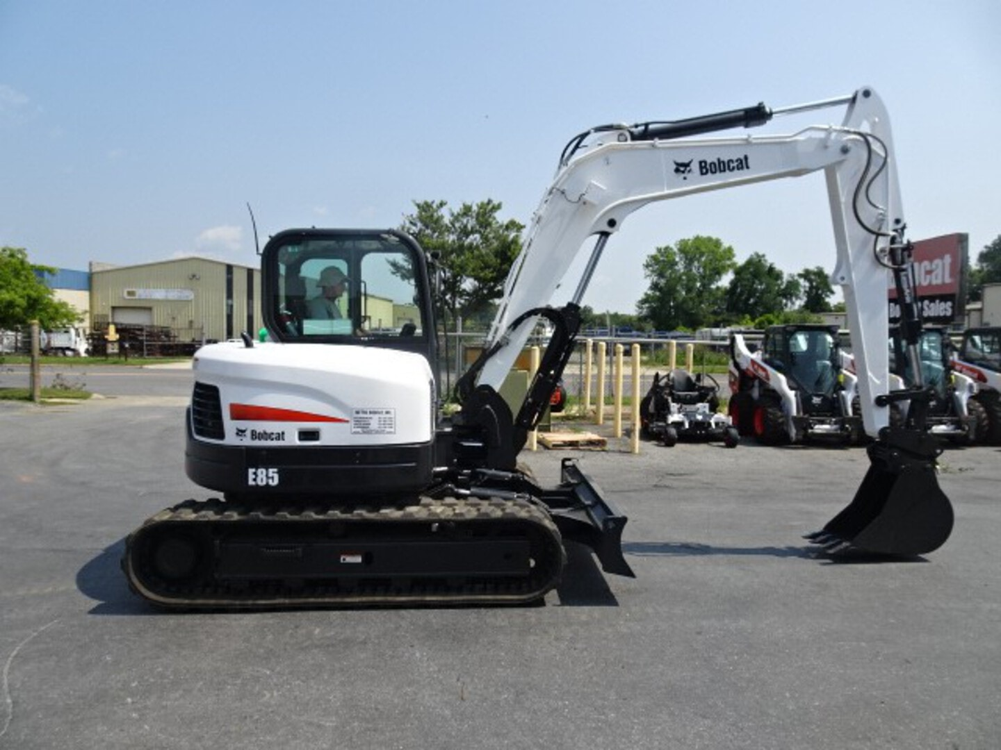 Used, 2017, Bobcat, E85 COMPACT EXCAVATOR 59.4 HP Diesel Engine (Tier 4) - M SERIES - PIN GRABBER W/ 2 BUCKETS Two-Speed - 18,977 lbs. Operating Weight - Deluxe High Back Cloth Suspension Seat - 1311 Hours!, Excavators