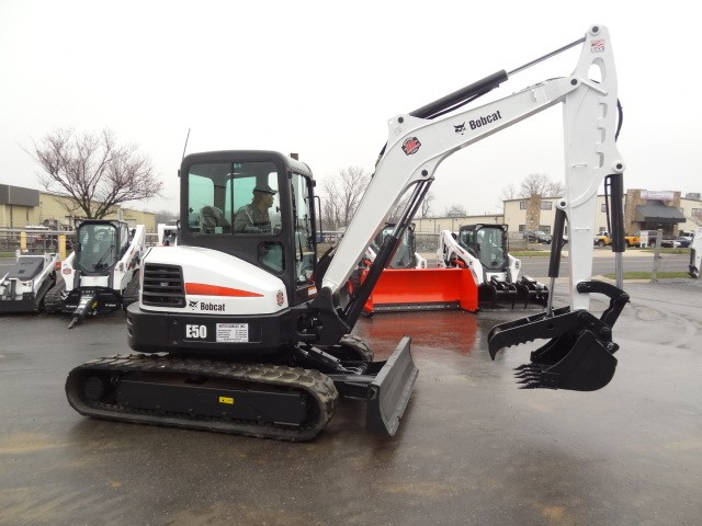 Used, 2015, Bobcat, E50 Excavator, Heat & AC, Hyd Clamp Attachment, Long Arm, Keyless Start, Motion Alarm, Hours: 1808, Excellent Condition, Excavators