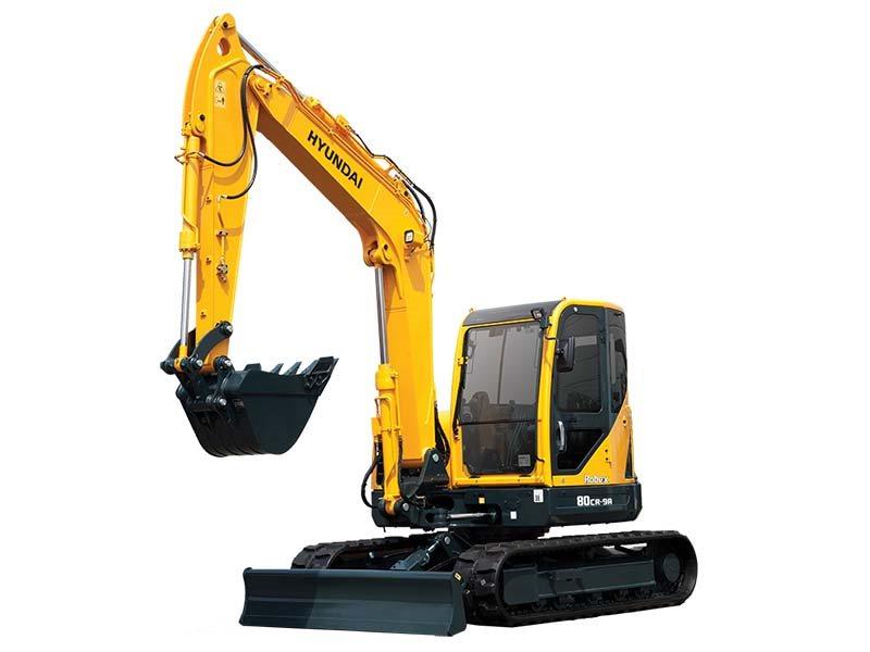 New, 2017, Hyundai, R80CR-9A, Excavators