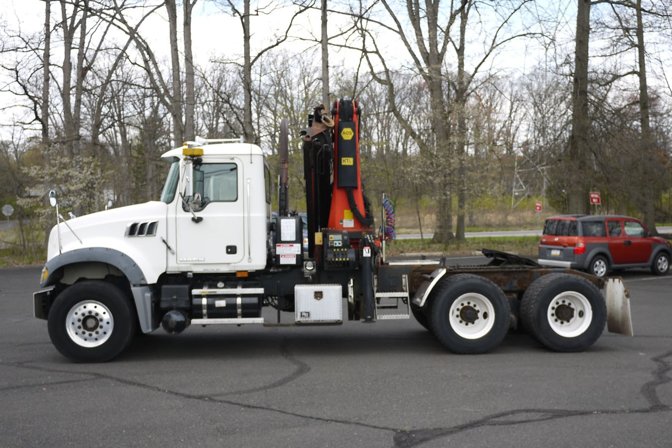 Used, 2008, Other, MACK CV713 TRACTOR W/ 2008 PALFINGER PK29002: 8.5 TON KNUCKLEBOOM TRUCK, Other