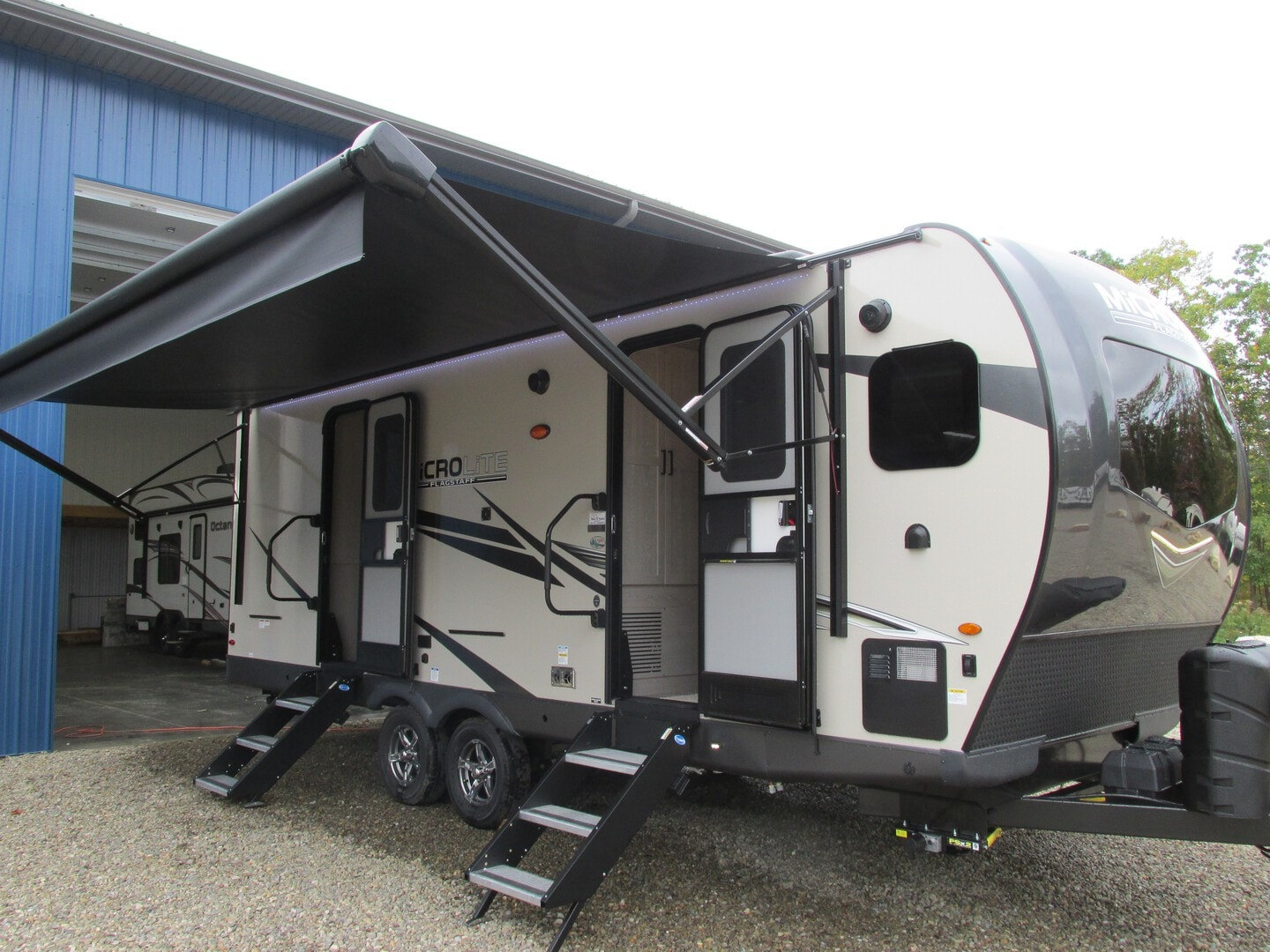 New, 2022, Forest River, FLAGSTAFF MICRO LITE 25 FKBS, Travel Trailers