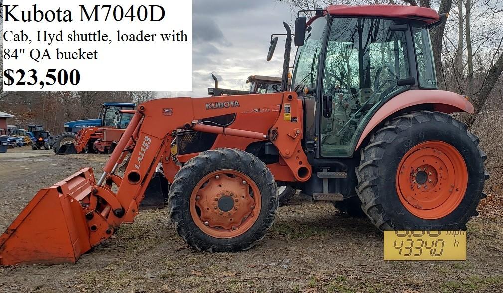 Used, 0, Kubota, M7040, Tractors