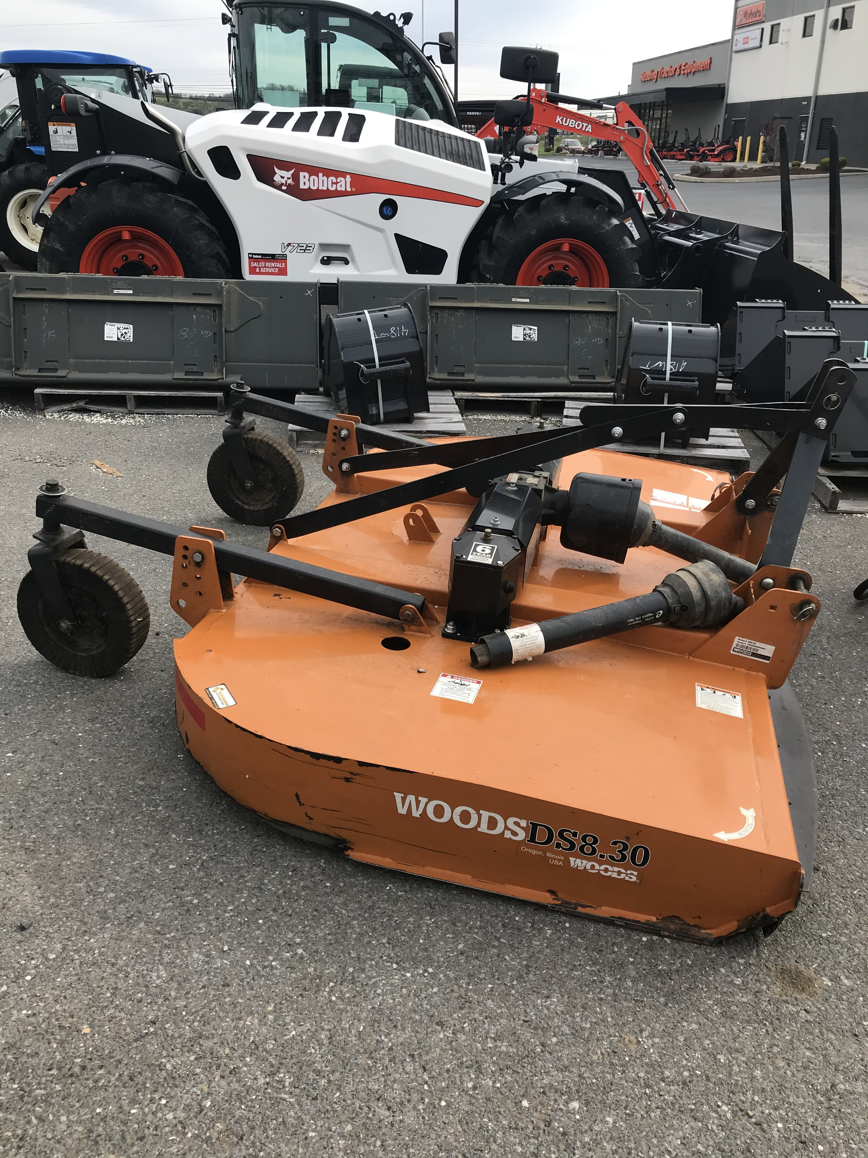 Used, 2016, Woods, DS8.30 Pull Type, Cutter Implements