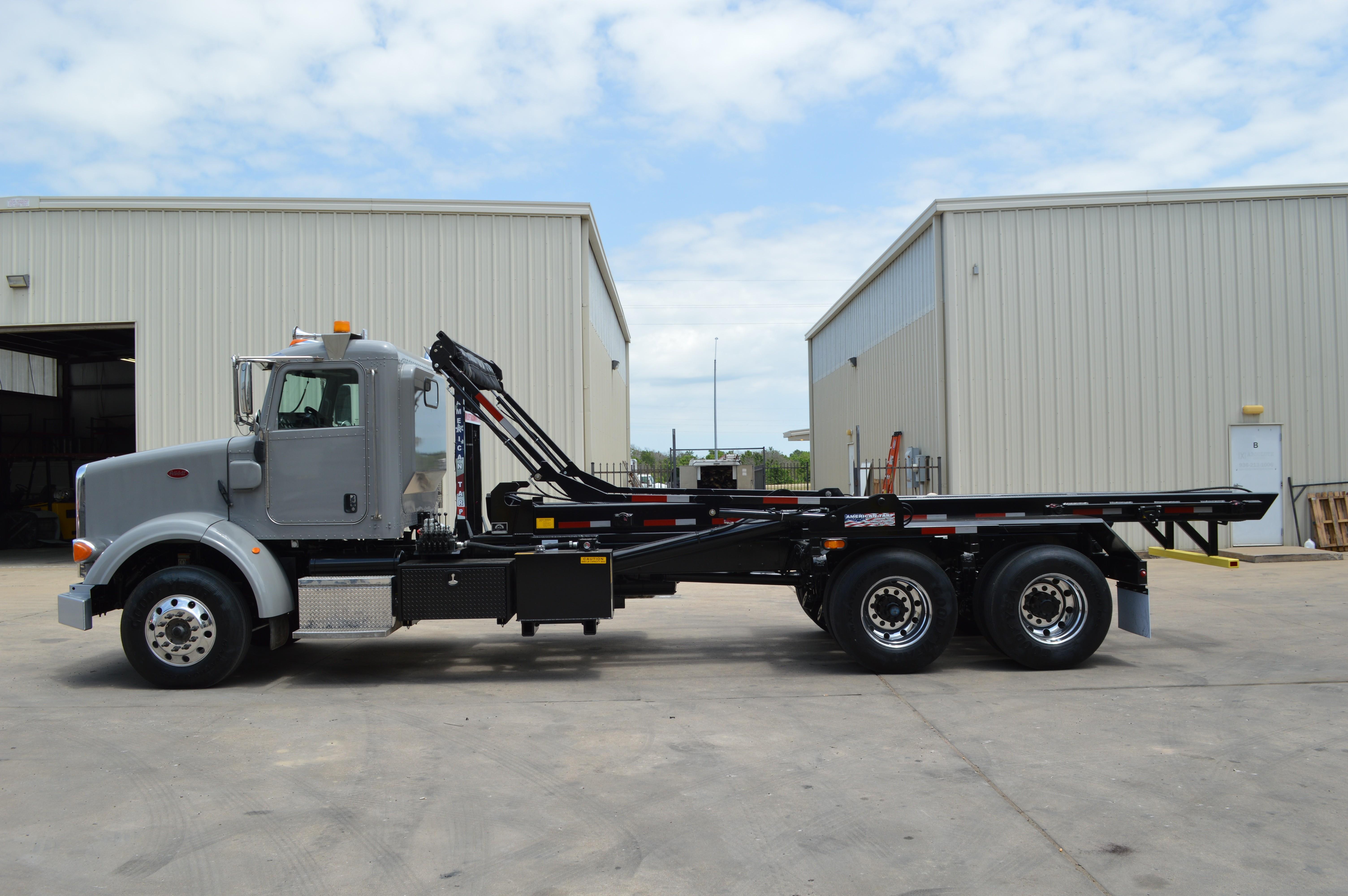Used, 2015, Peterbilt, 365 Roll Off ( Several Available, Brand new american hoist & american tarp), Transfer Trucks