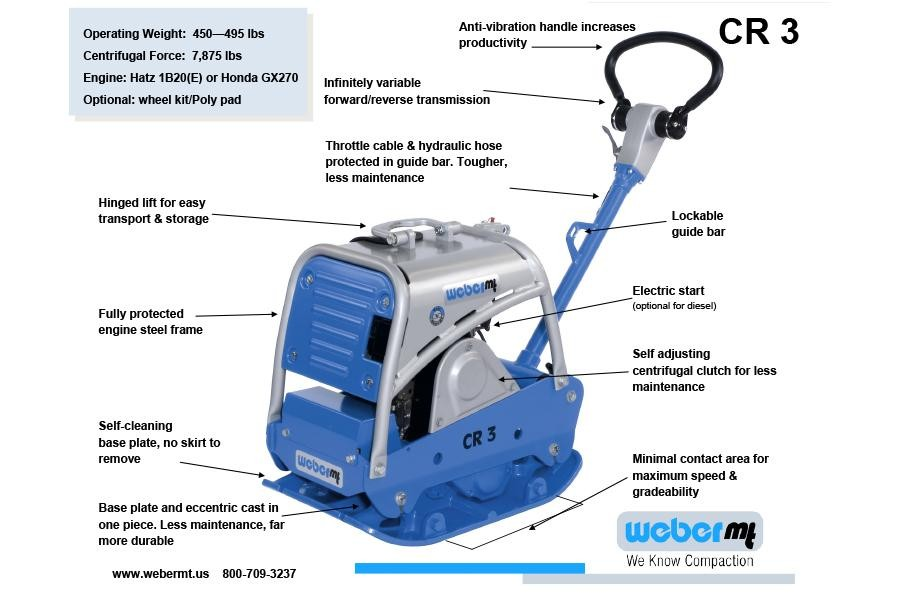 New, 2019, Weber MT, CR3, Compactors