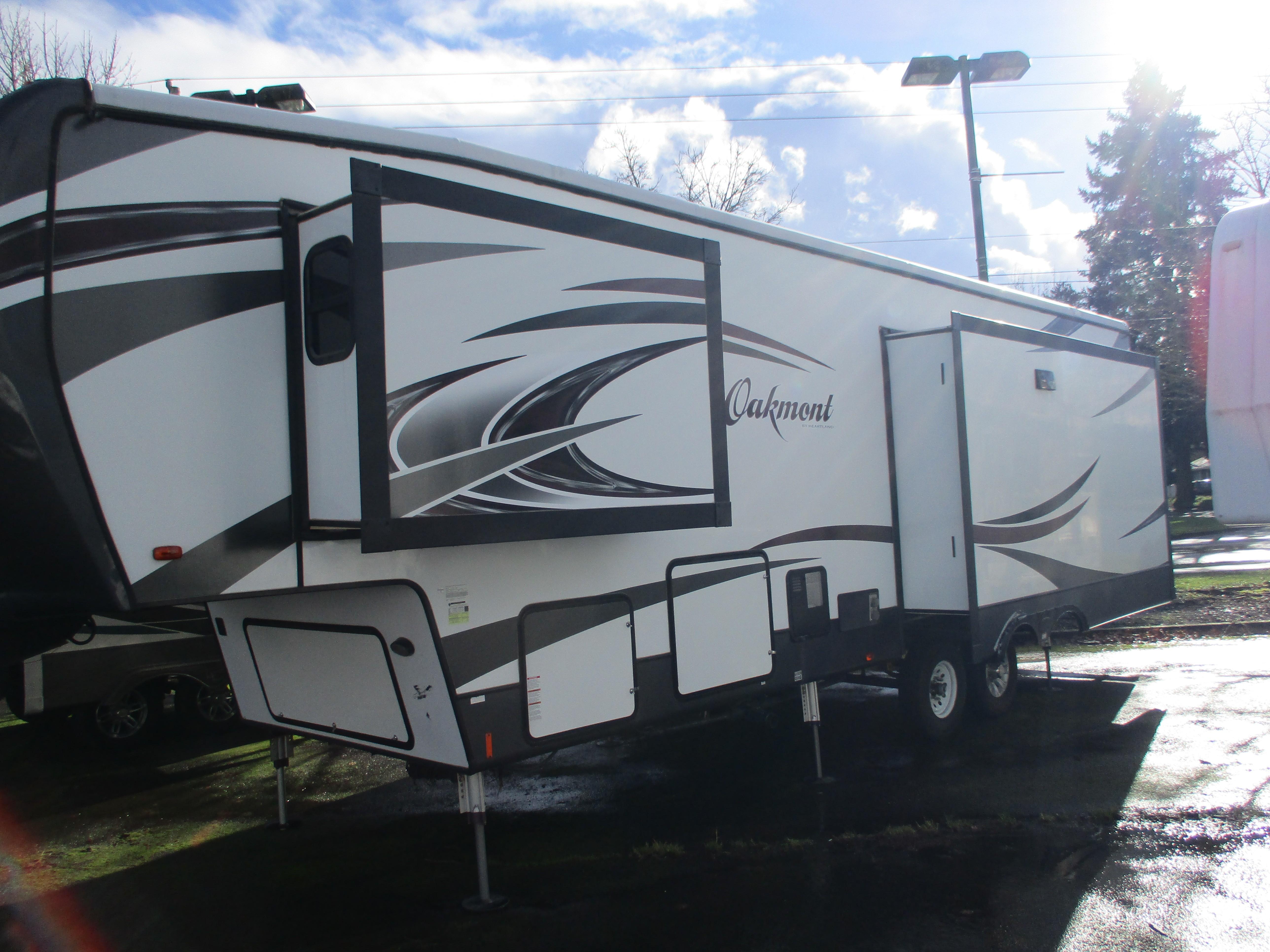 Used, 2017, Heartland, Oakmont OM 345 RS, Fifth Wheels