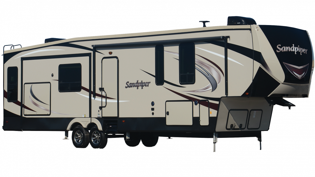 Used, 2019, Sandpiper HT, 3250IK, Fifth Wheels