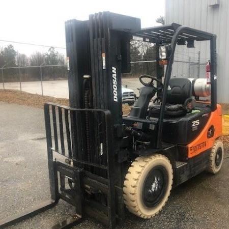 Used, 2015, Doosan, G25E-5, Forklifts / Lift Trucks