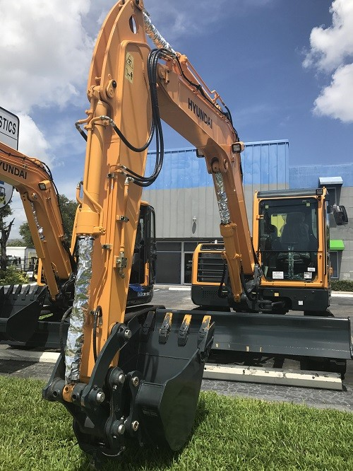 Used, 2017, Hyundai, R80CR-9A, Excavators