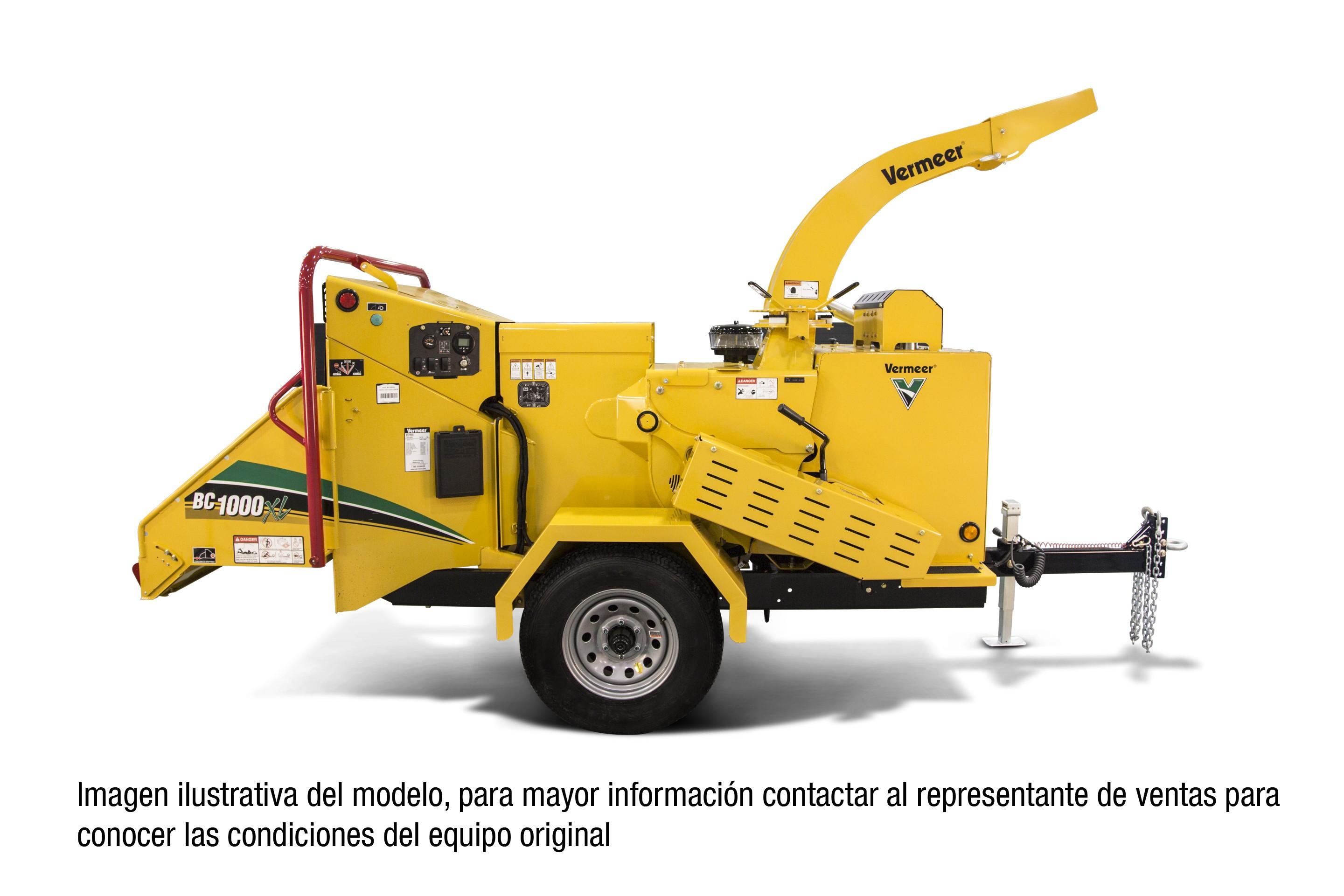 astilladora Vermeer, equipo usado, venta de equipo, venta de maquinaria, chipeadora, trituradora de ramas, astilladora barata