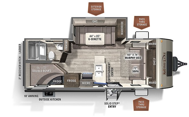 New, 2021, Forest River, ROCKWOOD MINI LITE 2509S, Travel Trailers
